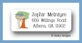 Variety of homes tree house return address labels personalized