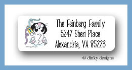 Rabbit & dreidel return address labels personalized