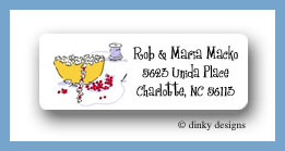 Popcorn & cranberries return address labels personalized