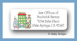 City sidewalks return address labels personalized