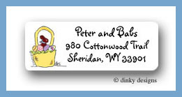 Bow tie bunny return address labels personalized