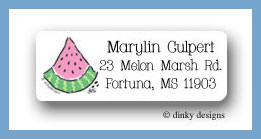 Watermelon return address labels personalized