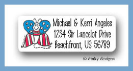 Stars & stripes butterfly return address labels personalized