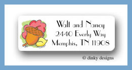 Fallen leaves return address labels personalized