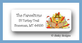 Thomas the turkey return address labels personalized