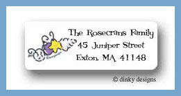 Seashell ornaments return address labels personalized