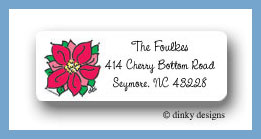 Merry topiary return address labels personalized