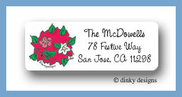 Merry topiary cluster return address labels personalized
