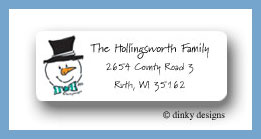 Snow dad return address labels personalized