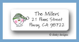Snow kid return address labels personalized
