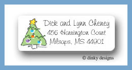Spruced up return address labels personalized