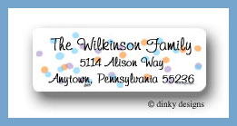 Seasonal spots return address labels personalized