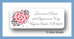 Peppermint wrap return address labels personalized