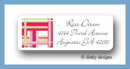 Pastel square return address labels personalized