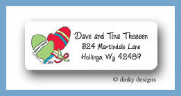 Fuzzy mittens return address labels personalized