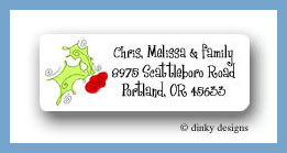 Holly & berries return address labels personalized