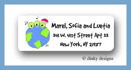 Peas on earth return address labels personalized