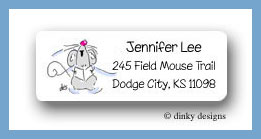 Three singing mice return address labels personalized