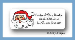 Santa face return address labels personalized