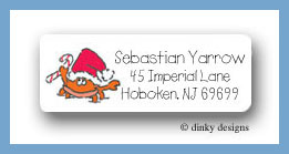 Crab return address labels personalized