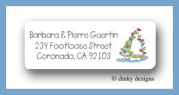 Sailboat return address labels personalized
