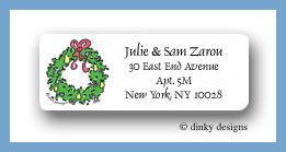Wreath and pearberries return address labels personalized