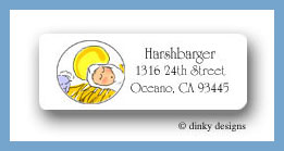 Baby Jesus return address labels personalized