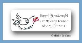 Two doves return address labels personalized
