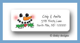 Happy Frosty return address labels personalized