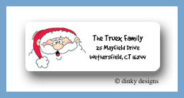 Jolly ol' St. Nick return address labels personalized
