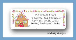 Gingerbread house return address labels personalized