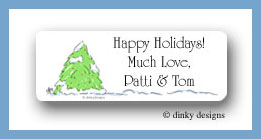 Tree for the holiday return address labels personalized