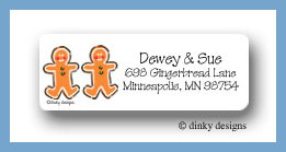 Gingerbread duo return address labels personalized