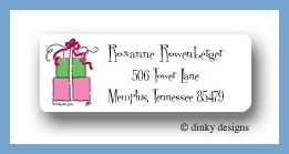 Pink trio return address labels personalized