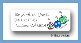Deck the tree - bulbs return address labels personalized