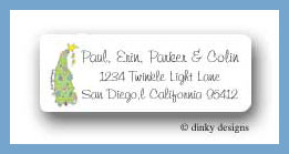 Pretty tree return address labels personalized
