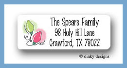 Lights for the holidays return address labels personalized