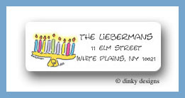 Menorah return address labels personalized