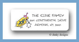 Dreidel return address labels personalized