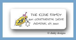 Dreidel return address labels personalized