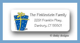 Present Hanukah return address labels personalized