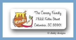 Honey jar return address labels personalized