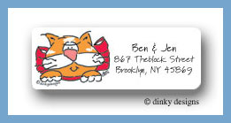 Cat face return address labels personalized
