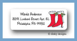 Go-go Christmas return address labels personalized