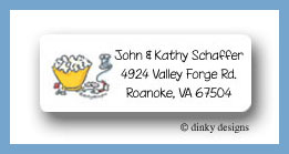 Cranberry & popcorn return address labels personalized