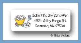 Cranberry & popcorn return address labels personalized