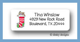 Chimney sock return address labels personalized