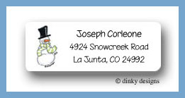 Chilly willy return address labels personalized