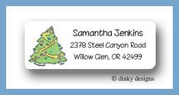 Cozy tree return address labels personalized