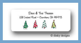 Prancing pines, line return address labels personalized